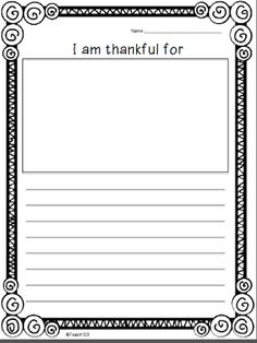 Full of thankful thoughts