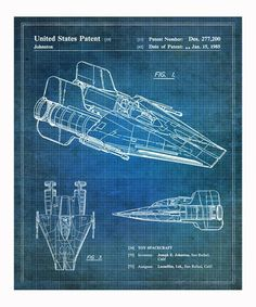 A-Wing 1985 Print