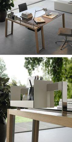 Crystal #office desk WGS PLUS by Gallotti&Radice | #design Monica Armani @Barbara Gallotti&Radice