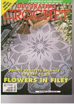 Crochet Magazine, Crochet Books, Irish Crochet, Crochet Flowers, Doilies, Knitting, Bingo, Crocheting, Ebooks