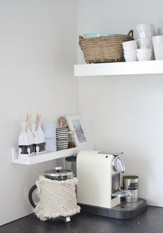 If you really want to have a coffee shop with this great coffee maker in the kitchen or inside your house, because making a home coffee station even in a small kitchen has the privilege. In addition to more counter space, this can provide more storage space. Discover ideas about coffee stations and this storage idea for your home kitchen. Continue Reading → #coffeestationideas #coffeestationorganizer