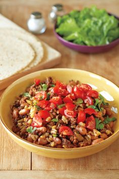 Mexican Skillet Beef and Rice. Preparing an entire meal in one pot or skillet is quick and shortens clean-up time.  If you keep a stash of cooked rice and browned ground beef in your freezer, this dish goes together in about 5 minutes. Serve it with a tossed salad and corn tortillas.  It is the perfect dish for busy night weeknights. This recipe is one of 100 easy, 30-minute recipes in Carol's new book, 100 Best Quick Gluten-Free Recipes. (Photo by Jason Wyche)