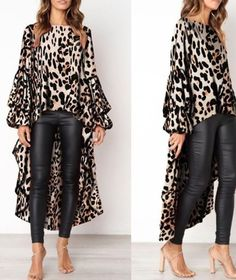 6899d2b09 One more animal print top. Pro  tip wear only one piece of animal print