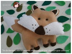 The fox of Little Prince, made in felt by giuliana handmade