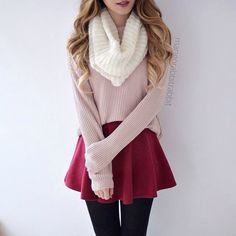 Trendy holiday outfits for teens winter casual Winter Mode Outfits, Classy Winter Outfits, Winter Outfits For School, Winter Fashion Casual, Cute Casual Outfits, Outfits For Teens, Fall Outfits, Skirt Outfits, Casual Winter