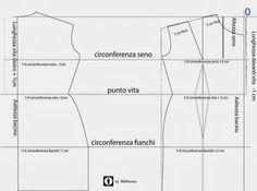Corsi di Cucito: Cartamodello base del busto donna