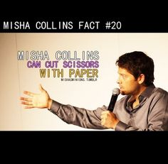 Reasons why Misha Collins is awesome #20.     Misha is Castiel, Castiel is God.    {Supernatural}