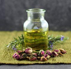face serum recipe: rose, calendula, rosemary & sage.