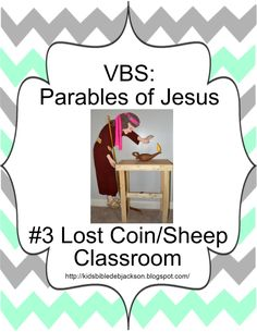 Parables of Jesus VBS: Day 3.The Lost Sheep  Coin Decorations, lesson, game  more!