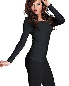 37cce8af07a KalvonFu Women s Cotton Square Neck Lace Warm Stretch Silm Thermal Underwear  Winter Base Set (S