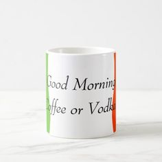 Coffee or Vodka Coffee Mug - good gifts special unique customize style