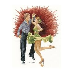 This counted cross stitch kit features a very dynamic design of a couple jiving. Perfect for any fan of the classic American dance, it would look terrific paired with the Argentine Tango Kit. Designed