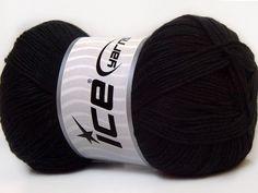 Baby AntiBacterial Black knitting yarn from ice yarn