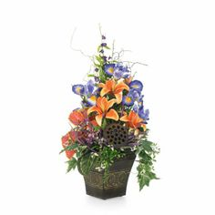 Iris and Lilies Arrangement, large
