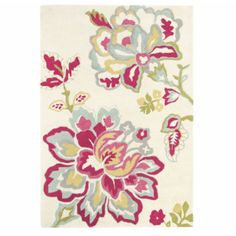 Angelique Modern Rug 200x280cm ($1,085) ❤ liked on Polyvore featuring home, rugs, modern floral rug, tufted area rugs, modern wool rugs, floral area rugs and wool rugs