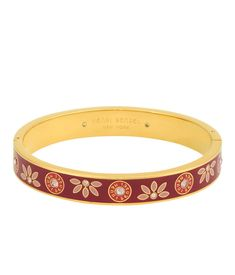 <p>The Petite Pattern Bangle is sweet and a little street chic. This designer bracelet gets all sorts of attention on its own but never minds being worn within a stack of your favorite Bendel bracelets.</p>