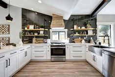 Open concept kitchen and living room – 55 designs & ideas - interiorzine Open Concept Kitchen, Open Plan Kitchen, New Kitchen, Kitchen Black, Living Room Kitchen, Home Decor Kitchen, Home Kitchens, Modern Kitchens, Kitchen Modern
