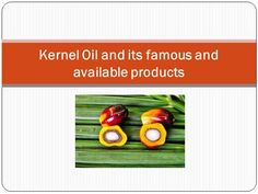 Kernel Oil and its famous and available products by dg13328 via authorSTREAM