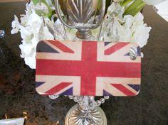 British United Kingdom Flag distressed by GlitzGlamourandBling, $12.00