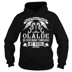 Awesome Tee OLALDE Blood - OLALDE Last Name, Surname T-Shirt T-Shirts