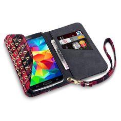 Tartan Trendy Studded Purse Wallet Case for Samsung Galaxy Studded Purse, Samsung Galaxy S5, Purse Wallet, Cell Phone Cases, My Ebay, Tartan, Purses, Scotch, Unique Jewelry