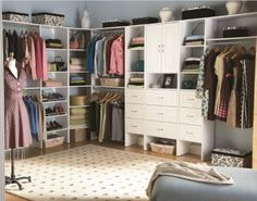 """Now this is an organized closet! (Check out """"ClosetMaid"""" on Facebook)"""