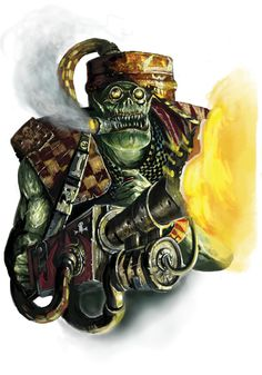 Ork Burna by paranoimiac on DeviantArt Orks 40k, Chaos Lord, Warhammer 40k Art, Unusual Art, The Grim, Shadowrun, Geek Culture, Military Fashion, Sleeve Tattoos