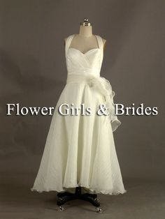 ~ www.flowergirlsandbrides.co.nz  ~ Satin/Chiffon halter dress with sweet heart neckline