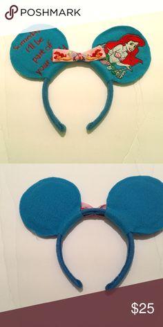 DISNEY EARS Homemade Little Mermaid Disney ears! Accessories Hair Accessories