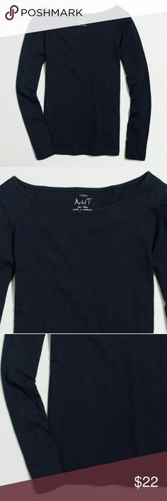 ❤ NWT J. Crew Long-sleeve artist T-shirt Color Navy. Cotton. Machine wash. Import. Item C9959. J. Crew Tops Tees - Long Sleeve