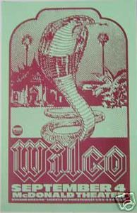 Wilco Mcdonald Theater Eugene Concert Poster