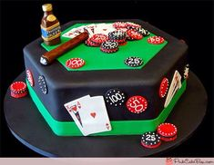 Image result for 90th birthday casino cake topper