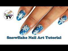 Winter Snowflakes Nail Art Tutorial - YouTube