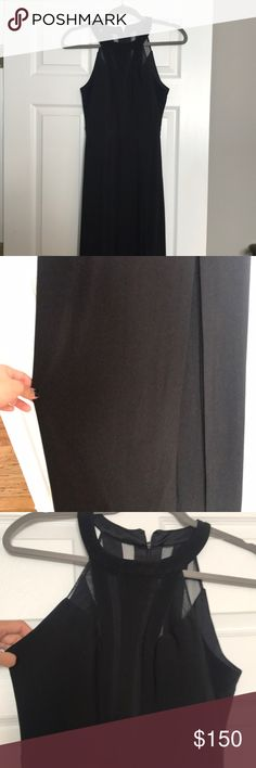 Nightway Gown Beautiful Black gown - I wore it once for a wedding and has been sitting in my closet since. Looks better on vs pictures :) Nightway Dresses Maxi