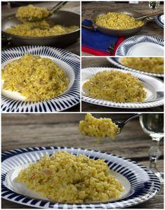αυθεντικό ριζότο μιλανέζε με σαφράν Risotto Milanese, Food N, Rice, Cooking, Baking Center, Koken, Jim Rice, Cook, Cuisine