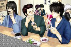 Pixiv Id 2441737, Gin Tama, Kawakami Bansai, Kondo Isao, Takasugi Shinsuke, Sakata Gintoki