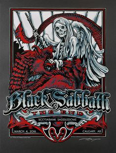 INSIDE THE ROCK POSTER FRAME BLOG: Black Sabbath AJ Masthay Calgary Poster Release Details