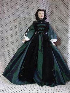 Gone w/the Wind Costumes Dolls House Figures, Historical Romance, Romance Books, Goth, Costumes, Book Covers, Miniature, War, Dresses
