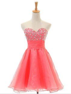 A-line+Sweetheart+Short/Mini+Chiffon+Cocktail+Dresses/Short+Prom+Dress#+ZP082