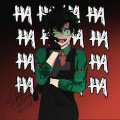 Anime Style: Villain Midoriya by LeleBlackT on DeviantArt My Hero Academia Episodes, My Hero Academia Memes, Hero Academia Characters, My Hero Academia Manga, Anime Villians, Fanarts Anime, Anime Style, Deku Anime, Deku Boku No Hero