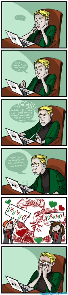 Malfoy reacts to DRARRY