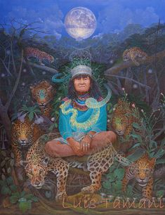 i saw this painting at rainbow, and it's even more amazing in person! Wish I had the money to buy a copy! - Luis Tamani, GUARDIANES, acylic on canvas, 100 x 130 cm, 2014