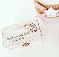 Ringkistchen Wedding Personalisiert Place Cards, Place Card Holders, Personalized Gifts, Wedding Day, Crate, Nice Asses