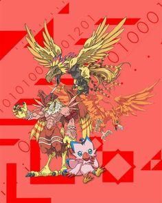 Piyomon Birdramon Garudamon Hououmon for her Human Friend Sora Piyomon Birdramon Garudamon Hououmon for her Human Friend Sora Fantasy Creatures, Mythical Creatures, Pokemon Vs Digimon, Monster Track, Evolution Tattoo, Digimon Wallpaper, Digimon Adventure 02, Digimon Tamers, Digimon Frontier