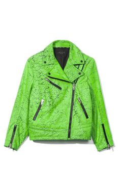 6d4fab637fe Gorgeous green #motorcycle jacket from @rag_bone 's #SS13 runway show Green  Motorcycle