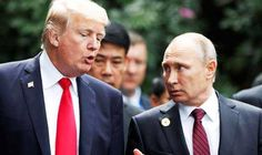 President Trump and Russian President Vladimir Putin issued a joint statement on Saturday commemorating the anniversary of a World War II meeting of U. and Soviet troops at the Elbe river in Vladimir Putin, Barack Obama, Donald Trump, Arms Race, Poutine, The Victim, Us Presidents, Cold War, Syria