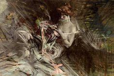 Giovanni Boldini (Italian, 1842-1931) The ball gown