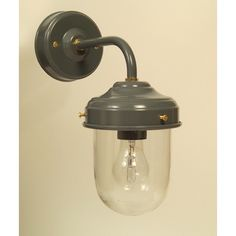 Dark Grey Stable Barn Outdoor Wall Light - Slate Grey Barn or Stable wall mounted lamp comes complete with a glass bulb shade. Suitable for use inside or outside, As its name implies, it is particularly well suited to barn conversations or traditional country homes