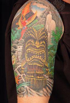 Jungle Half Sleeve Tattoo