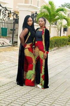 The Nelo Set: Ankara Pants and Kimono Jacket image 3 African Fashion Designers, African Print Fashion, Africa Fashion, African Print Dresses, African Fashion Dresses, African Dress, African Jumpsuit, African Attire, African Wear